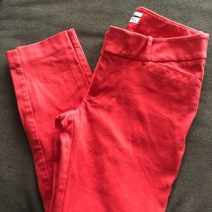 🌟Burnt orange/ red cropped slacks